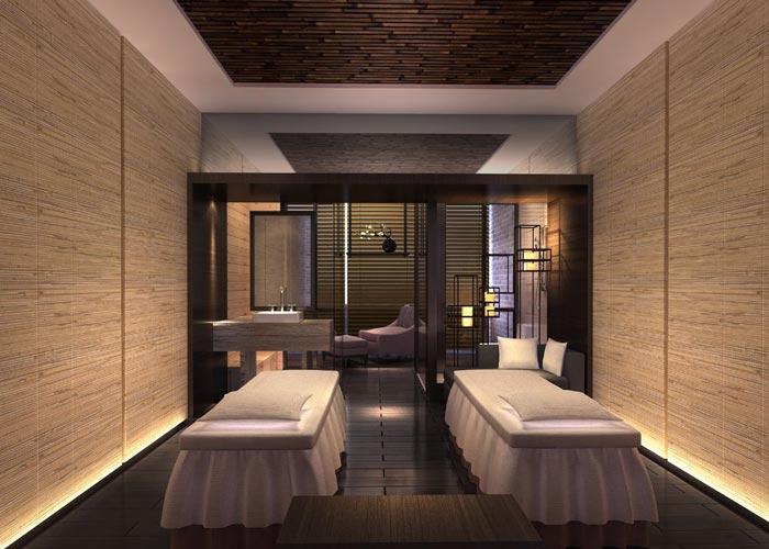500平方中式風格私人會所按摩房裝修設計案例效果圖
