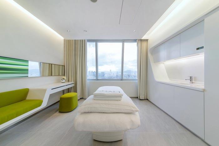 整形医院设计攻略 设计方案              护肤中心的治疗室,专门设计