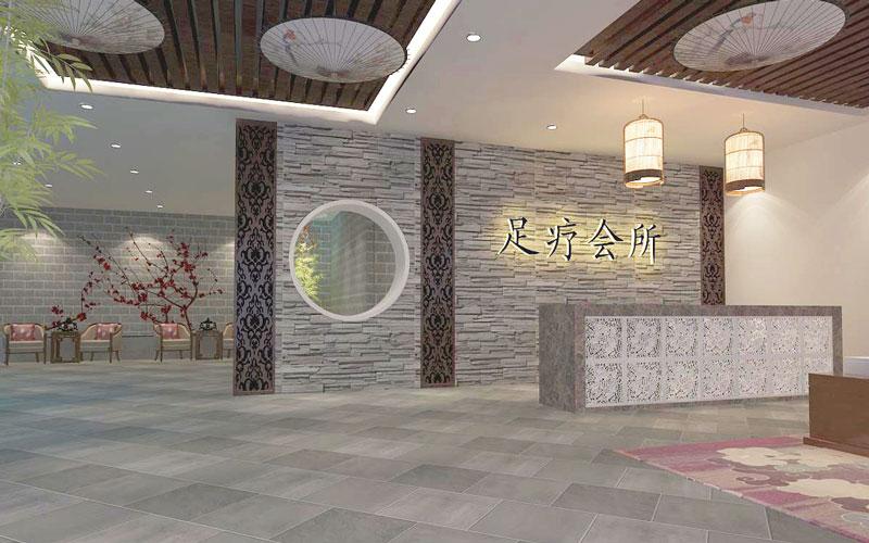 杭州2000平大型养生会所装修设计案例