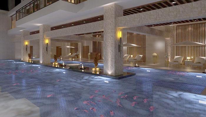1500平大型洗浴养生馆装修设计案例效果图