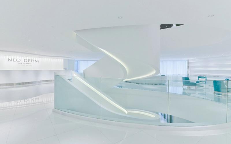 1100平现代简约整形医院装修设计效果图