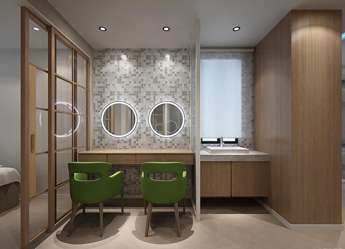 新中式风格小型美容院装修设计效果图