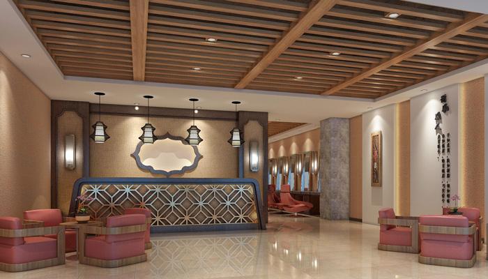 1650平大型中式养生馆装修设计效果图图片