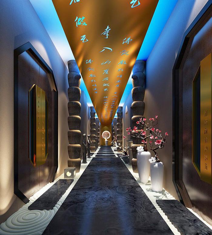 2300平新中式風格水療spa會所裝修設計效果圖