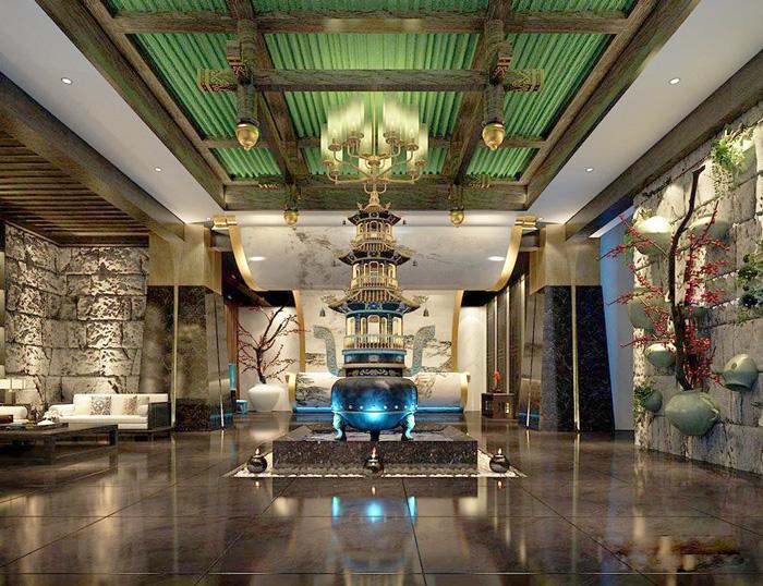 杭州新中式风格养生馆装修设计效果图