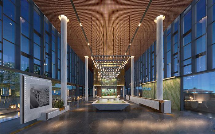2600平大型新中式养生馆装修设计效果图