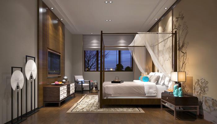 2650平大型中式风格养生馆装修设计房间效果图