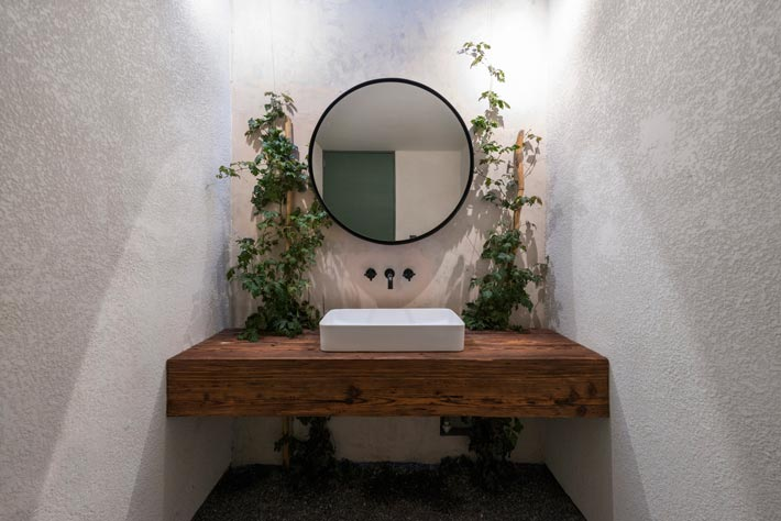 特色餐厅洗手池装修设计效果图