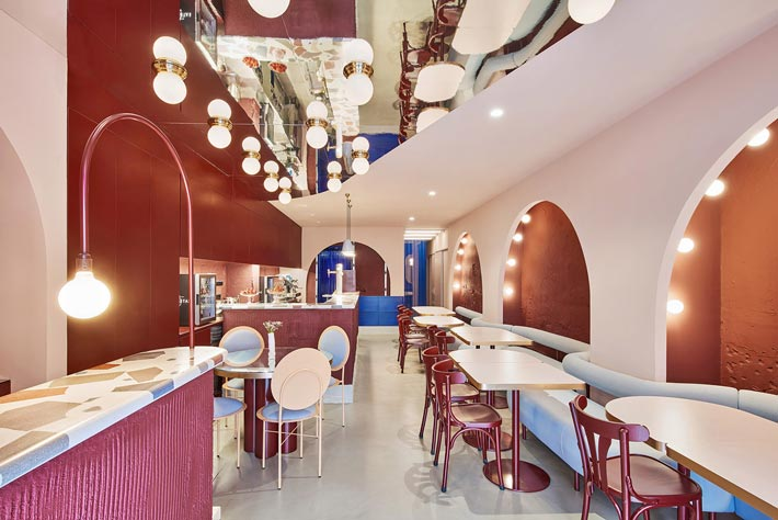特色餐厅前台装修设计效果图