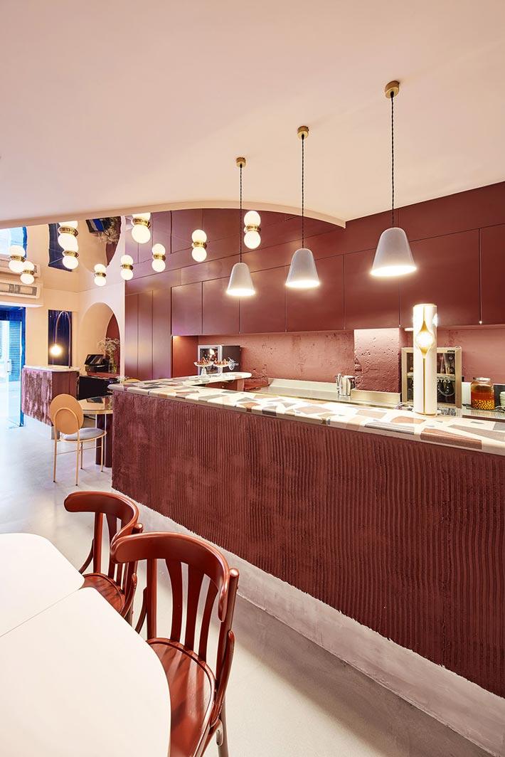 特色餐厅吧台装修设计效果图