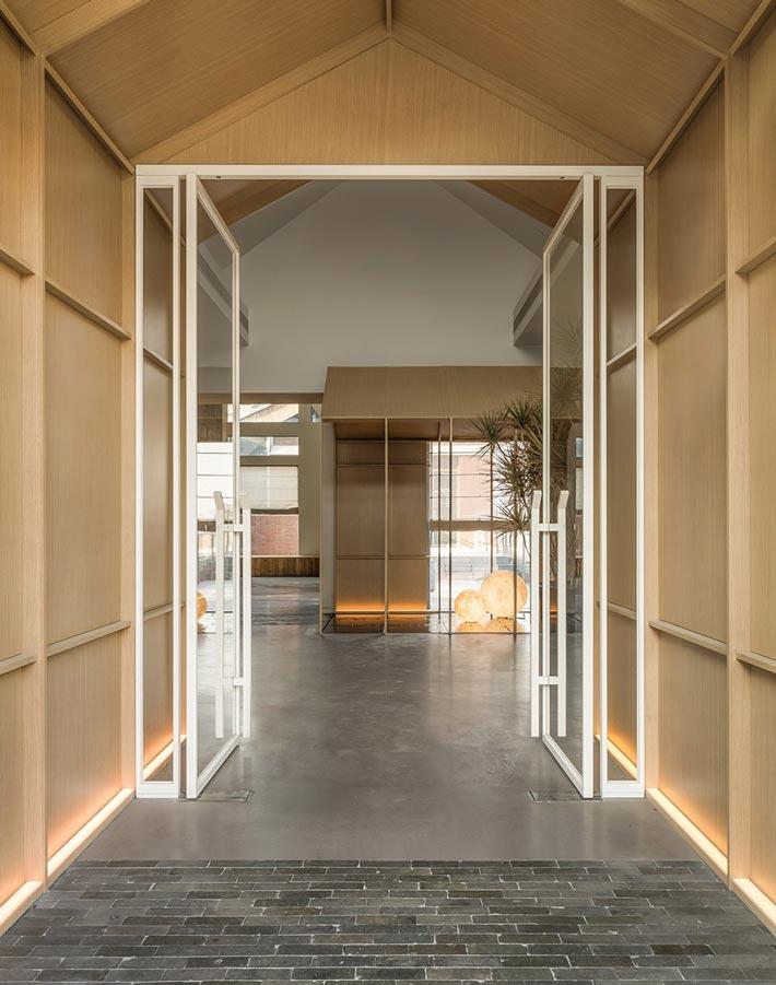 四季艺术餐厅入口装修设计效果图