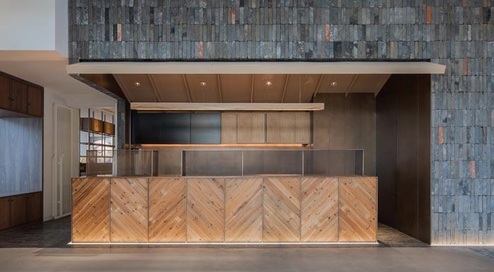 四季艺术餐厅前台装修设计效果图