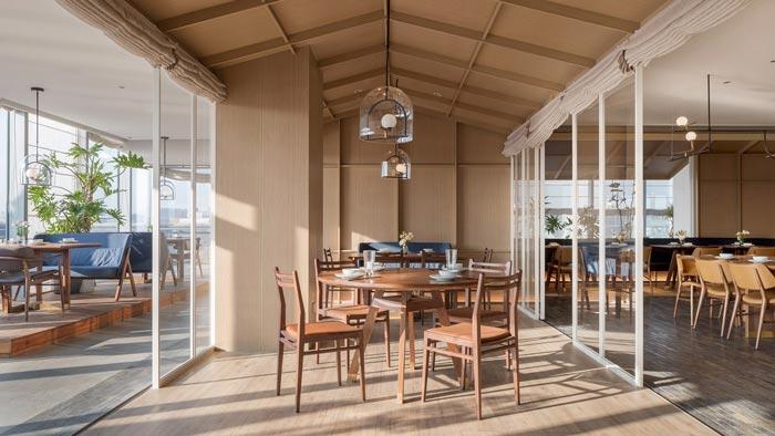 四季艺术餐厅中厅装修设计效果图