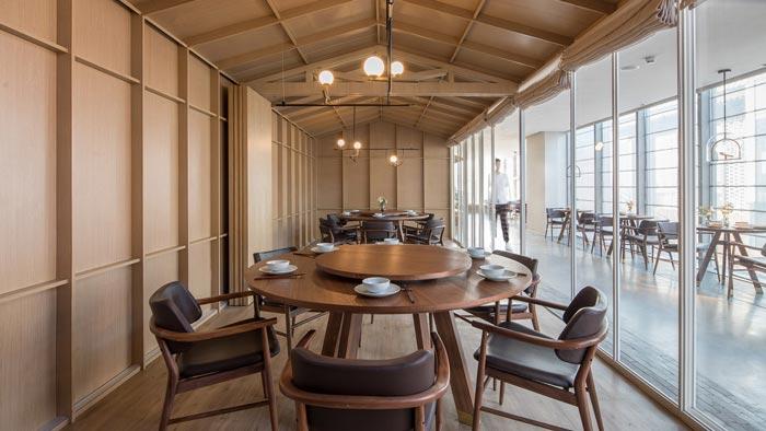 四季艺术餐厅包厢装修设计效果图