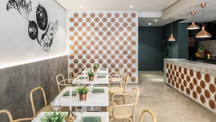 清新特色餐厅吧台装修设计效果图