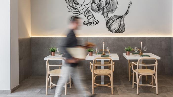 清新特色餐厅餐区装修设计效果图