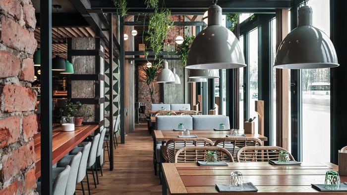 休闲餐馆餐区装修设计效果图
