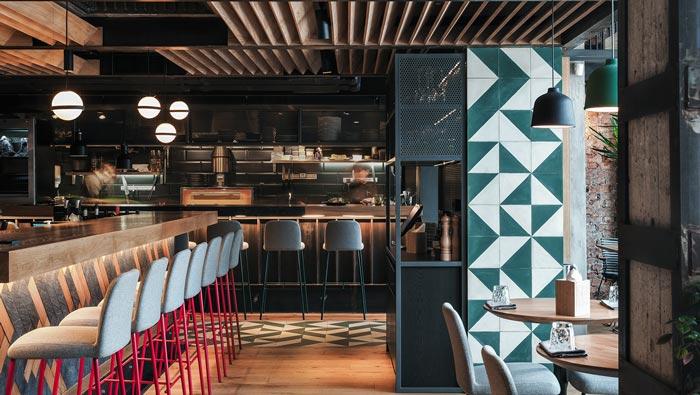 休闲餐馆厨房装修设计效果图