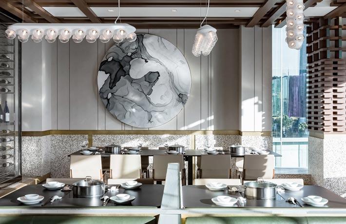 CBD火锅店餐区装修设计效果图