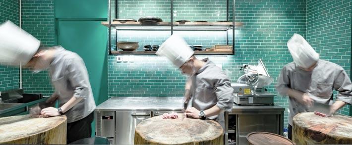 CBD火锅店厨房装修设计效果图