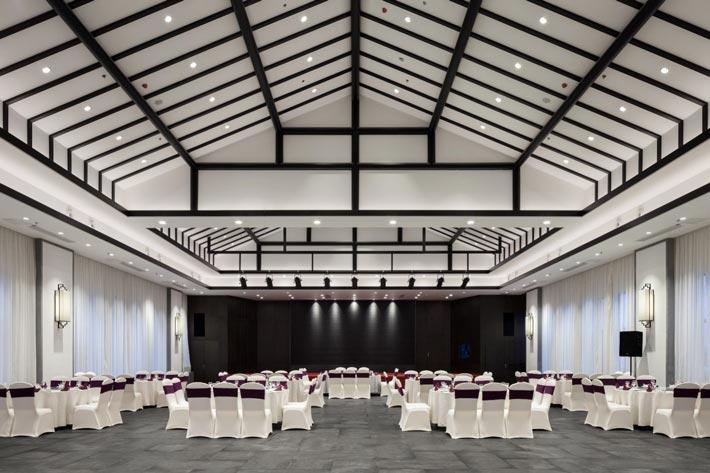 新中式饭店宴会厅装修设计效果图