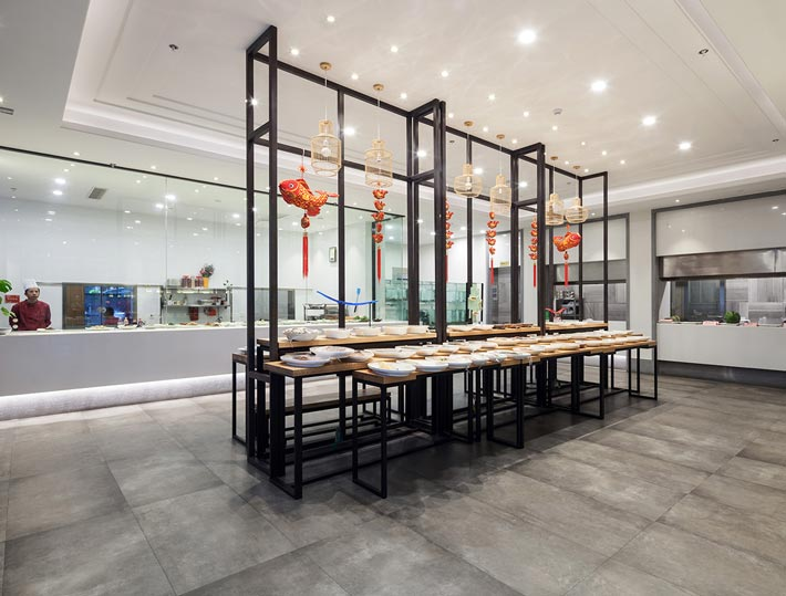 新中式饭店厨房装修设计效果图