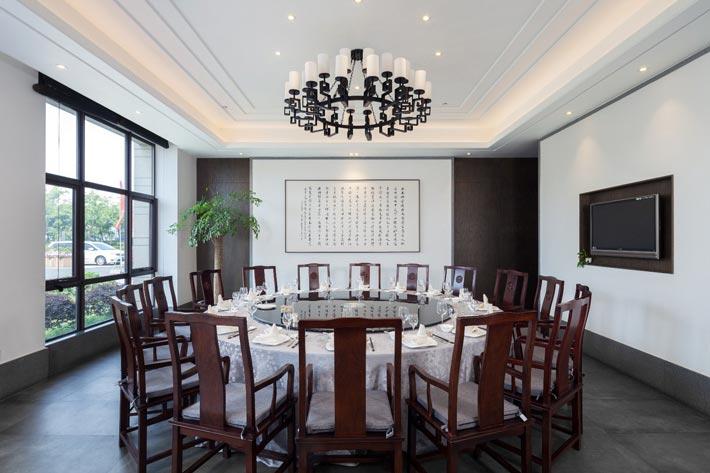 新中式饭店包厢装修设计效果图