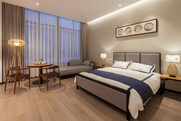 新中式饭店单人间装修设计效果图