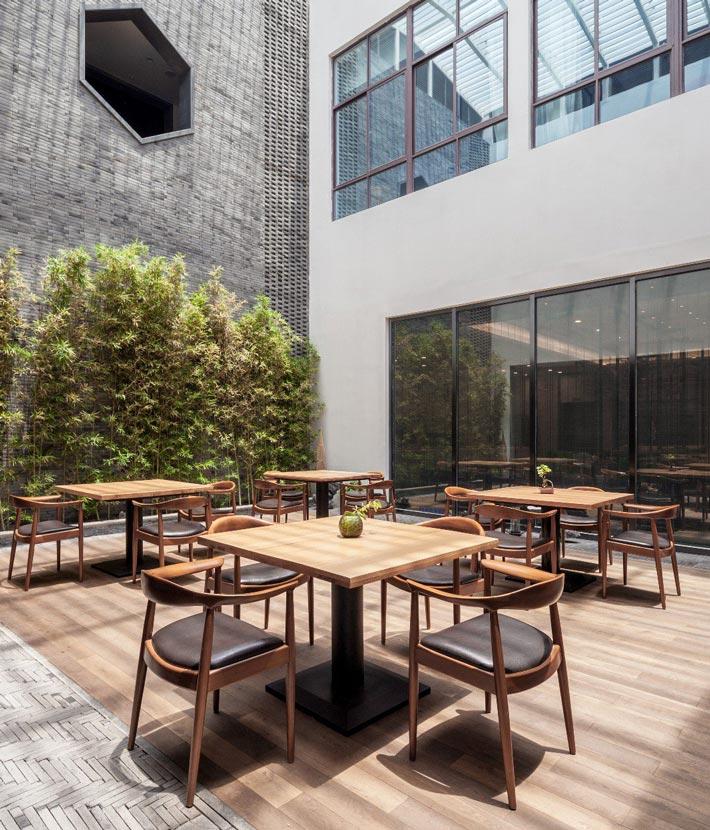 新中式饭店休闲区装修设计效果图