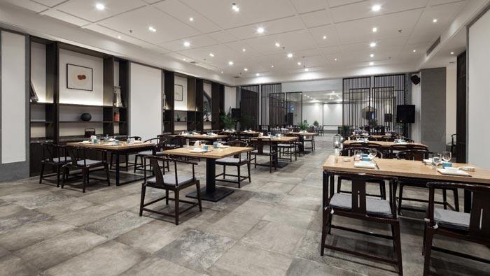 新中式饭店餐区装修设计效果图