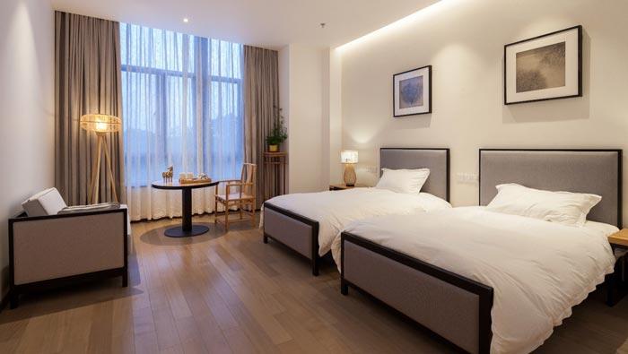 新中式饭店双人间装修设计效果图