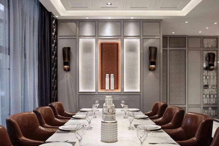 1500平方精致饭店餐区装修设计效果图