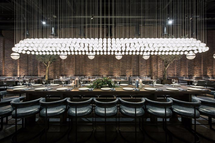 鱼餐厅餐区装修设计效果图