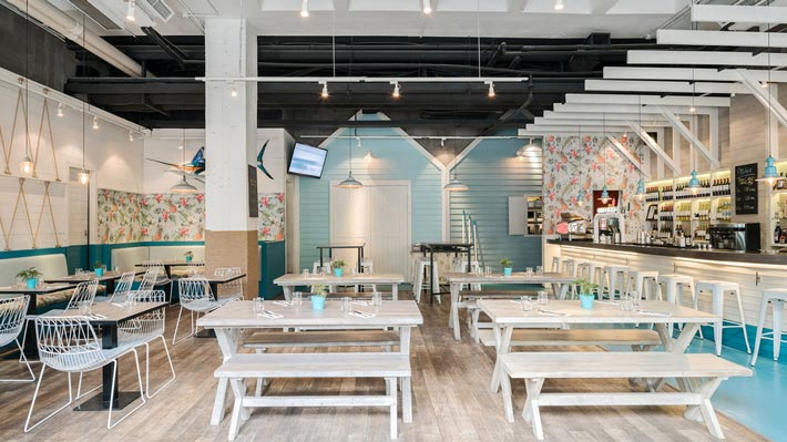 海鲜酒吧餐厅餐区装修设计效果图