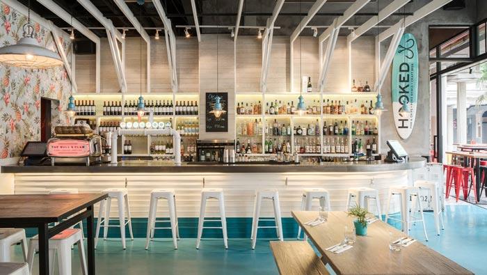 海鲜酒吧餐厅吧台装修设计效果图