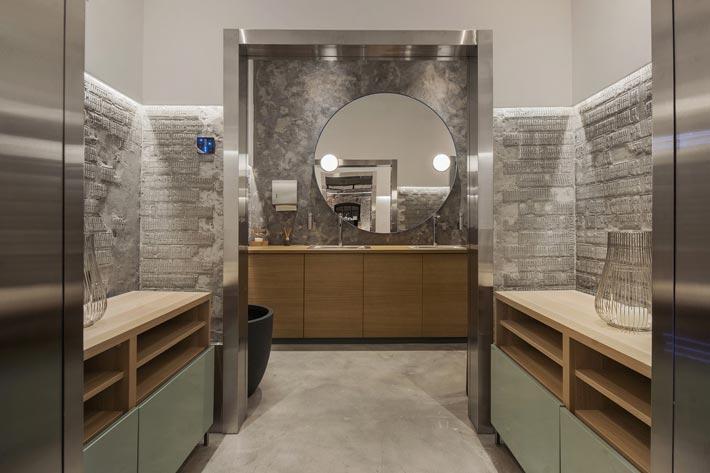 两层海鲜餐厅洗手池装修设计效果图