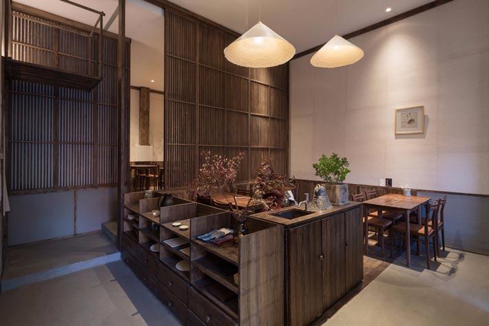 中式饭馆餐区装修设计效果图
