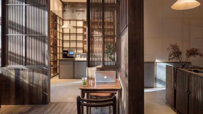 中式饭馆入口装修设计效果图