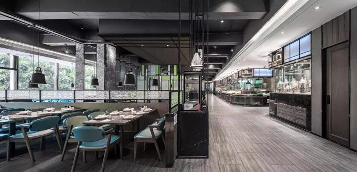 海鲜餐馆过道装修设计效果图