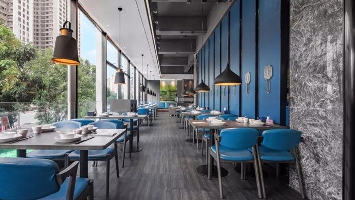 海鲜餐馆餐区装修设计效果图