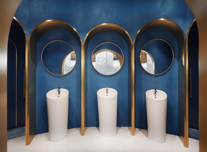 海鲜馆洗手池装修设计效果图
