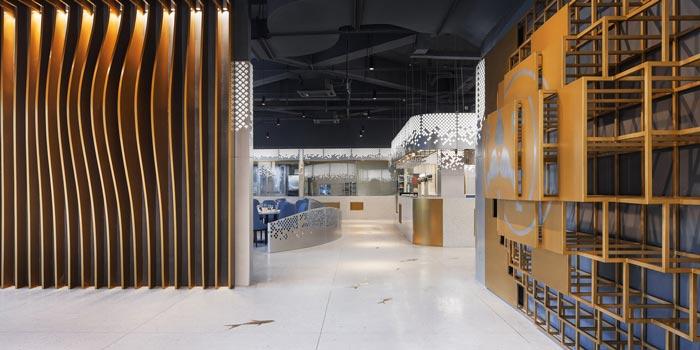 海鲜馆入口装修设计效果图