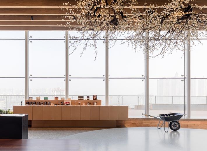 商场咖啡店展示区装修设计效果图