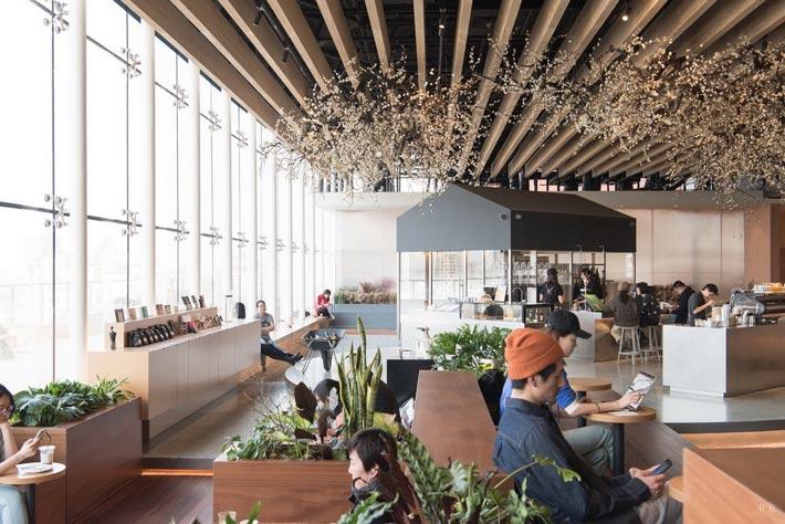 商场咖啡店吧区装修设计效果图