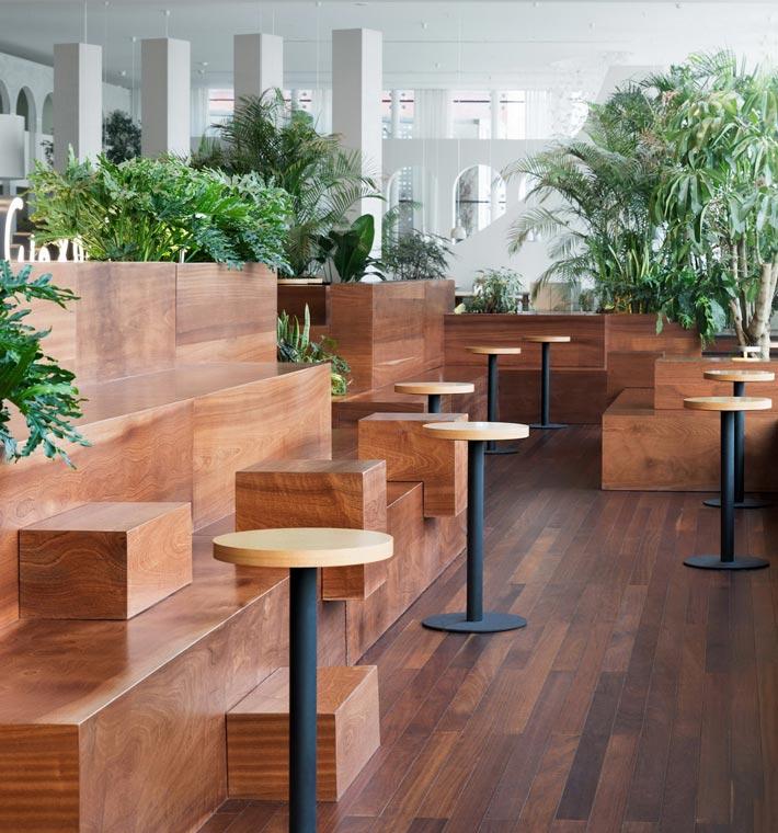 商场咖啡店座位装修设计效果图