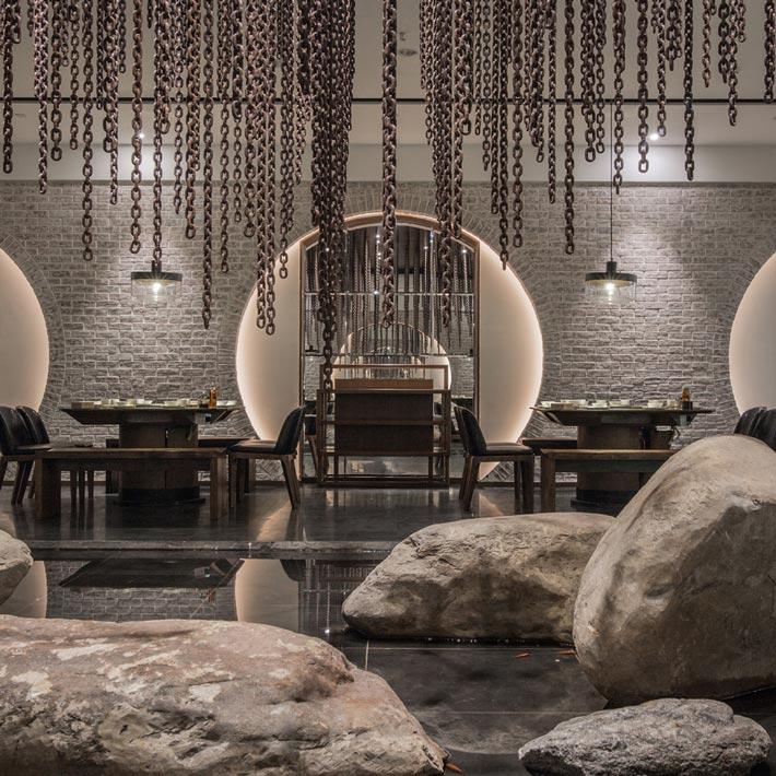 中式火锅店装饰设计效果图