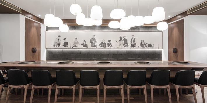 中式火锅店餐区装修设计效果图