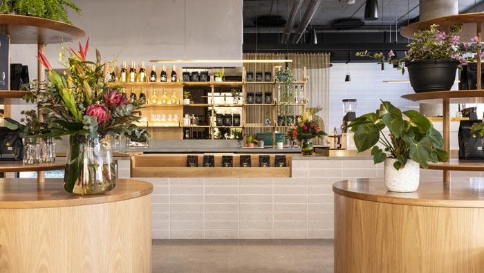440平方咖啡馆吧台装修设计效果图