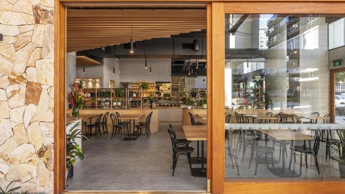 440平方咖啡馆门口装修设计效果图