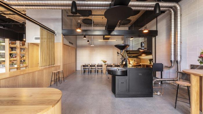 440平方咖啡馆烘焙装修设计效果图